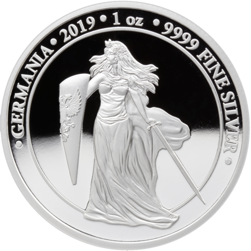 5 Mark Germania Proof 1 oz Silber PP 2019 **