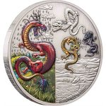 5 $ Dollar Dragons Collection - The Four Dragons - Die Vier Drachen Niue Island 2 oz Silber 2019 **