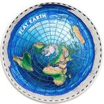 10 $ Dollar Great Conspiracies - Flat Earth Palau 2 oz PP Silber 2019