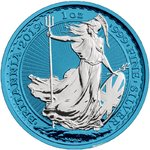 2 Pounds Pfund Space Blue Edition Silver Britannia Grossbritannien UK 1 oz Silber 2019 **