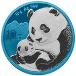 10 Yuan Space Blue Edition Panda China 30 Gramm Silber 2019 **