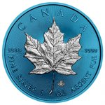 5 $ Dollar Space Blue Edition Maple Leaf Kanada 1 oz Silber 2019 **