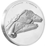 5 $ Dollar Star Wars Millennium Falcon Ultra High Relief Niue Island 2 oz Silber 2019 **