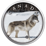 5 $ Dollar Trails of Wildlife -  Wolf Maple Leaf 1 oz Silber Kanada 2019 **