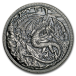 10 oz Silver Ultra High Relief Round Dragon vs. Vikings - Drache gegen Wikinger 10 oz Silber
