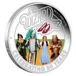 1 $ Dollar 80 Years The Wizard of Oz - 80 Jahre Zauberer von Oz Tuvalu 1 oz Silber PP 2019 **