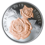 3 $ Dollar Queen Elizabeth Rose Blossoms Kanada Silber PP 2019 **