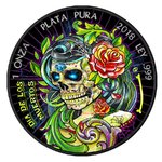 Black Libertad Day of the Dead - Dia de los Muertos Mexiko 1 oz Silber 2018