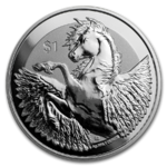 1 $ Dollar Pegasus British Virgin Islands 1 oz Silber 2019 Reverse Frosted **