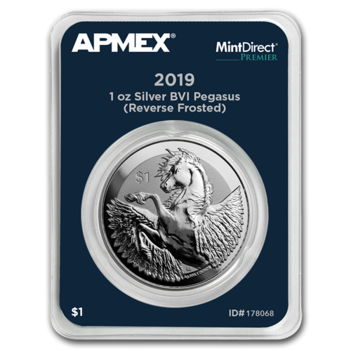 1 $ Dollar Pegasus Apmex MintDirect® Premier British Virgin Islands 1 oz Silber 2019 **