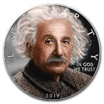 1 Dollar American Silver Eagle Liberty 140th Anniversary  of Albert Einstein USA 1 oz Silber 2019
