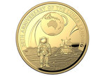 100 $ Dollar 50th Anniv. Moon Landing 50 Jahre Mondlandung Dome Shaped Australien 1 oz Gold PP 2019