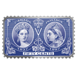 50 Cents Queen Victoria Diamond Jubilee Stamp Kanada 1 oz Silber PP 2019 **