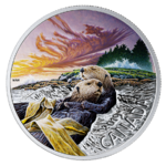 20 $ Dollar Canadian Fauna - The Sea Otter - Der Seeotter Kanada 1 oz Silber PP 2019 **