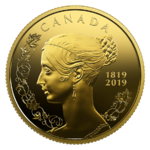 10 $ Dollar 200th Anniversary of the Birth of Queen Victoria Kanada 1/4 oz Gold PP 2019