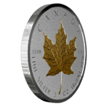 50 $ Dollar 40th Anniversary - 40 Jahre Gold Maple Leaf - Double Incuse Kanada 3 oz Silber 2019 **