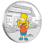 1 Dollar The Simpsons - Bart Simpson Tuvalu 1 oz Silber PP 2019 **