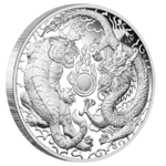 1 $ Dollar Dragon & Tiger Drache & Tiger Proof Australien 1 oz Silber PP 2019 **