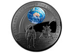 5 $ Dollar 50th Anniv. Moon Landing 50 J. Mondlandung Dome Shaped Australien 1 oz Silber PP 2019 **