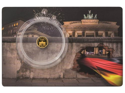 10 $ Dollar 30 Years Fall of Berlin Wall 30 Jahre Fall der Berliner Mauer Solomon Islands Gold 2019