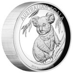 8 $ Dollar Koala High Relief Australien 5 oz Silber PP 2019 **