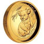 100 $ Dollar Koala High Relief Australien 1 oz Gold PP 2019
