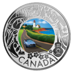 3 $ Dollar Canadian Fun and Festivities - Costal Drive Kanada 1/4 oz Silber 2019 **