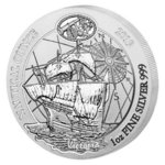 50 Francs Nautical Ounce Victoria Ruanda Rwanda 1 oz Silber BU 2019