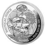 50 Francs Nautical Ounce Victoria Ruanda Rwanda 1 oz Silber PP 2019