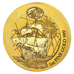 100 Francs Nautical Ounce - Victoria Ruanda Rwanda 1 oz Gold BU 2019