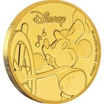 25 $ Dollar Disney Mickey's 90th Anniversary - 90 Jahre Mickey Mouse Niue Island 1/4 oz Gold PP 2018