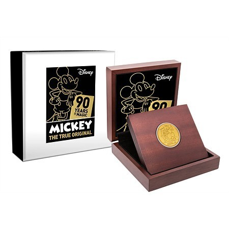 250 $ Dollar Disney Mickey's 90th Anniversary - 90 Jahre Mickey Mouse Niue Island 1 oz Gold PP 2018
