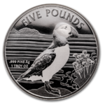 5 Pfund Pounds Puffin - Papageientaucher Alderney 1 oz Silber 2019 **