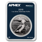 5 Pfund Pounds Puffin - Papageientaucher Apmex MintDirect® Premier Alderney 1 oz Silber 2019 **