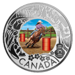 3 $ Dollar Canadian Fun and Festivities - Rodeo Kanada 1/4 oz Silber 2019 **