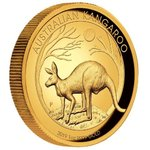 100 $ Dollar Kangaroo Känguru High Relief Australien 1 oz Gold PP 2019