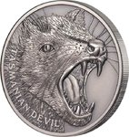1 $ Dollar Wildlife Close-Up - Tasmanian Devil Ultra High Relief Niue Island 1 oz Silber 2019 **