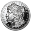 1 oz Silver Round - American Legacy Morgan Dollar Proof High Relief - Incuse 1 oz Silber PP