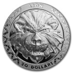 20 $ Dollar BIG FIVE - Lion - Löwe Sierra Leone High Relief 2 oz Silber PP 2019 **