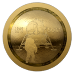 100 $ Dollar 50th Anniversary Apollo 11 Moon Landing - Mondlandung Kanada 1/2 oz Gold PP 2019 **