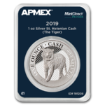1 Pound Pfund Cash India Wildlife Tiger St. Helena Apmex MintDirect® Premier 1 oz Silber 2019 **