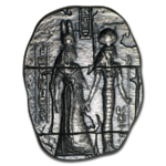 2 oz Hand-Poured Silver Relic Bar - 2 oz Silber Silberbarren Egyptian Goddesses