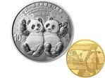 10 + 100 Yuan 70th Anniversary Diplomatic Relationship China / Russia Gold + Silber Set 2019 PP