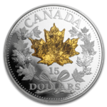 15 $ Dollar Golden Maple Leaf Kanada Silber PP 2019 **