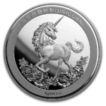25th Anniversary of Unicorn - Einhorn Restrike China 1 oz Silber Premium Uncirculated 2019