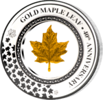 5 $ Dollar Embracing Gold Series - 40th Anniversary Gold Maple Leaf Solomon Islands 2 oz Silber 2019
