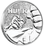 1 $ Dollar Marvel Series - Hulk Tuvalu 1 oz Silber BU 2019 **
