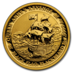 100 $ Dollar Black Flag - Piratenschiff Serie - Queen Anne's Revenge Tuvalu 1 oz Gold BU 2019