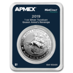 1 $ Dollar Black Flag - Queen Anne's Revenge Tuvalu Apmex MintDirect® Premier 1 oz Silber 2019 **