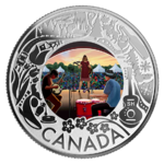 3 $ Dollar Canadian Fun and Festivities - Folk Music Kanada 1/4 oz Silber 2019 **